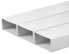 Laposcsatorna PVC 90x220mm 1fm (9010)