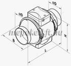 VENTS TT 150 csőventilátor 2 fokozatú kapcsolóval