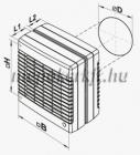 Vents 150 MAO1 Ablakventilátor