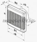 Vents 150 MAT Fali axiális  Zsalus elszívó ventilátor időzítővel