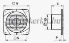 VENTS 150 D T fali axiális elszívó ventilátor időzítővel