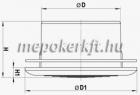 Müanyag Szellőzőrács MV 200 PFS