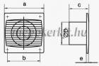 Vents Silenta-ST 100  Alacsony zajszintű axiális Fali Elszívó  ventilátor időzitővel
