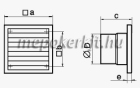 Vents 150 K Axiális Fali Elszívó ventilátor