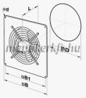 Vents OV 2E 200 Falba szerelhető Axiális ventilátor