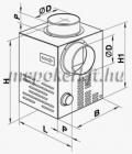 Vents KAM 125 Kandalló ventilátor integrált hőmérséklet érzékelővel és termosztáttal szerelve