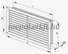 Műanyag ipari szellőzőrács NUN 400x400mm