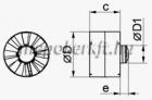 Vents 150 VKO1 T csőventilátor időzítővel