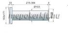 Vents Blauberg PS 100 Fali Passzív Légbeeresztő kerek szellőzőráccsal