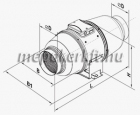 VENTS TT-SILENTA-M 315 Hang- és hőszigetelt csőventilátor