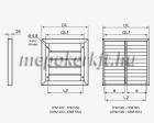 Gravitációs zsalu ipari GRM 635x635 D550