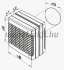Vents 150 MAO1 TH Páraérzékelős Ablakventilátor