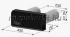 Vents Micra 150 E Hővisszanyerő légkezelő  MK 150 külső eresz eleme