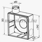 Vents KV 80 Falba süllyeszthető ház VNV ventilátorhoz