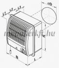 Vents 100 CF turbo radiál fali elszívóventilátor
