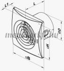 Vents 150 QUIET TH idő és párakapcsolós csendes elszívó ventilátor