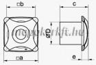 Vents 150 XTH alumatt Desing Fali Axiális ventilátor időzítő páraérzékelő