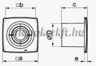 Vents 100 X1 Dekorativ ventilátor
