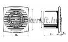 Blauberg Bravo Still 125 H csendes ventilátor időkapcsolóval páraérzékelővel szerelve