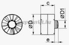 Vents 150 VKO1 L Turbó csőventilátor Gördülőcsapággyal