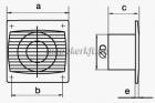 Vents 125 S TL Axiális Fali Elszívó ventilátor időzítővel Gördülőcsapággyal