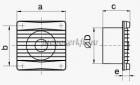 VENTS 125 MVTL Húzózsinóros ventilátor időkapcsolóval golyóscsapággyal