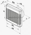Vents 150 MA L Fali axiális Zsalus elszívó ventilátor Golyóscsapággyal