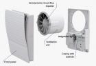 VENTS 100 Style T Duo Fali Zalus csendes elszívó ventilátor