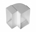 Műanyag Laposcsatorna Könyök függőleges 90x220mm (9292)