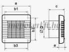 Vents 100 MATP  Zsalus ventilátor mozgásérzékelővel