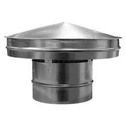 Horganyzott acél (VF-18) Esővédő idom átm 180mm