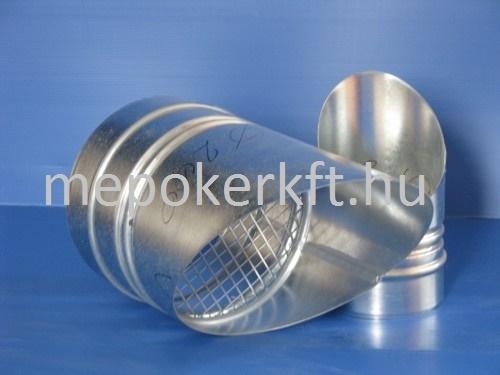 Horganyzott acél (VF-19) Madárhálós csővég D 200mm