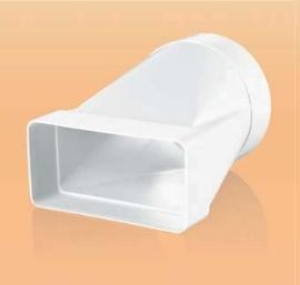 Műanyag Átalakító átm 125mm / 60x204mm átm 125mm (812)
