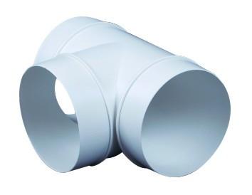 Műanyag T idom átm 125mm (232)