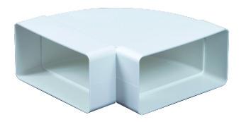 Műanyag Laposcsatorna Könyök vizszintes 90x220mm (9291)