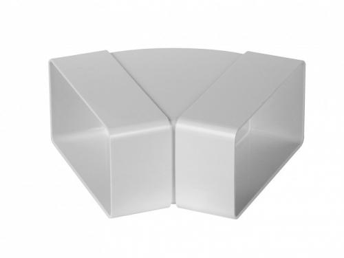 Műanyag Laposcsatorna Könyök 45 fokos vizszintes 60x204mm (82810)