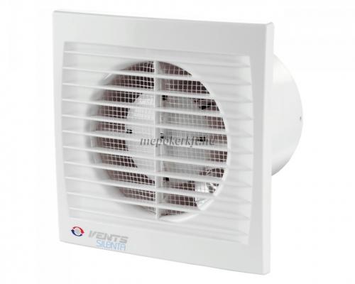 Vents Silenta-STH 125 Alacsony zajszintű axiális Fali Elszívó ventilátor  időzitővel párakapcsolóval