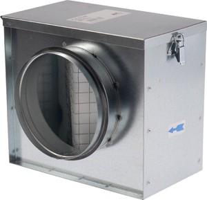 Fém szűrődoboz NA200 G4-es szűrővel