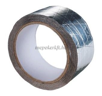 Alumínium szalag üvegszál erősítéssel egy oldalt öntapadó 50mm x L=50m