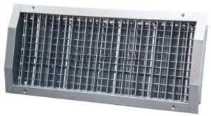 Spikocső szellőzőrács 225x125mm NOVA-C kétsoros