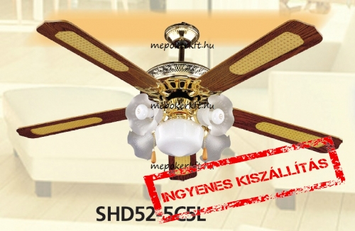 Csillár ventilátor Vents SHD52- 5C5L