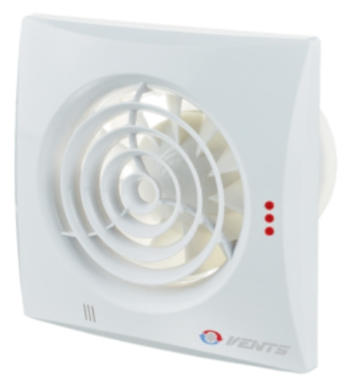 VENTS 100 QUIET DC TH  időkapcsolóval páraérzékelővel szerelt  Fali csendes elszívó ventilátor